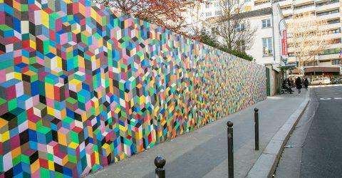 Le mur du Pavillon graffer par Popay